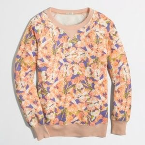 J. Crew Pastel Floral Sweatshirt